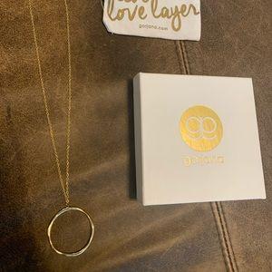 Gorjana circle pendant gold